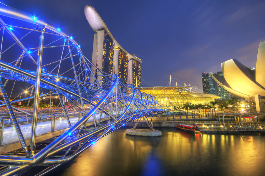 Marina Bay Sands Singapore HDR travel photo, Singapore, July 25, 2012 | © Courtesy of Jimmy McIntyre.