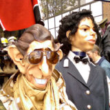The Man who would be King! H.R.H Prince Charles and the 'King of Pop' Michael Jackson Effigies, Portobello Market, London, UK, January 1, 2005 ©Courtesy of drinks machine/Flickr.